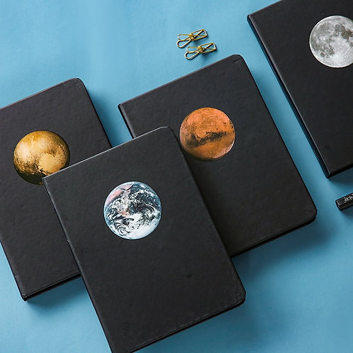 JUGAL Planet Diary  Blank Black Inner Page  Journal uses are endless