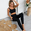 Thumbnail: 2pcs Ribbed Seamless Sports Set for Women Winter Long Sleeves Yoga  Workout Suit
