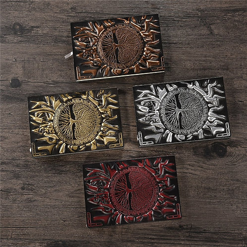 Diary Notebook Journal Handcraft Embossed Leather