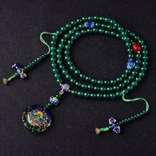 Designer Tibetan Mala Buddhist Green Tara Prayer Beads Tibetan 108
