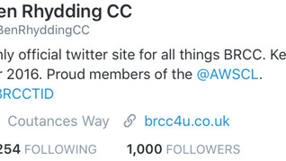Club Reach 1k Followers on Twitter!