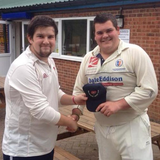 Club secretary wins 1st XI cap!