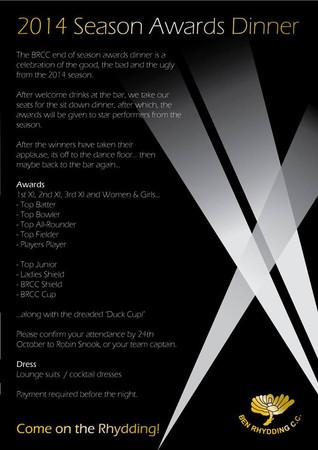 Last call for Award Dinner tickets!