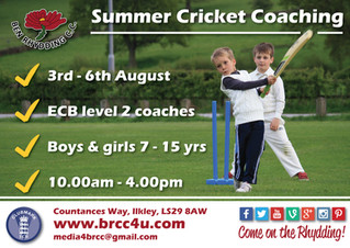Spaces still available at Summer Cricket Coaching course!