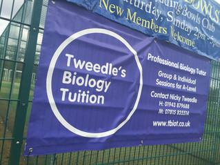 Club announce partnership with Tweedle's Biology Tuition