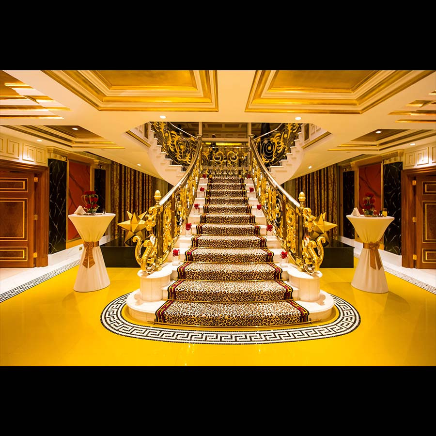 Penthouse suite of the Burj Al Arab golden staircase