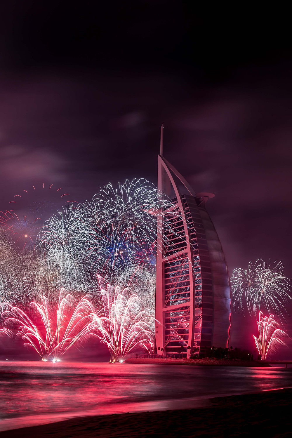 Burj Al Arab fireworks on UAE Day