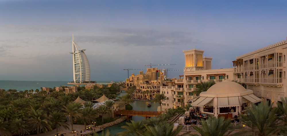 Madinat Jumeirah Resort with the Burg Al Arab in the Background