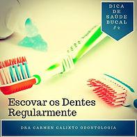 escovar os dentes e higiene bucal