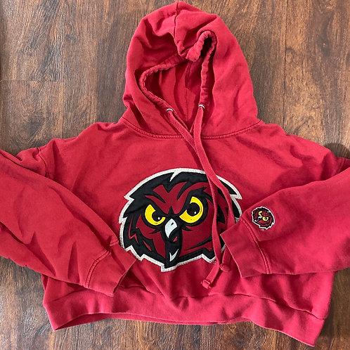 CROP OWL HOODIE