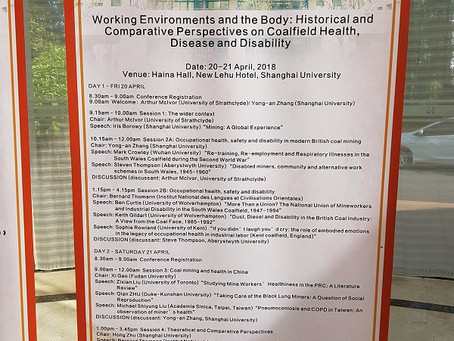 Attending the 'Working Environments and the Body' Conference, Shanghai, China, April 2018