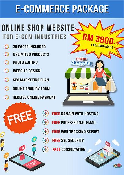 website e-commerce package