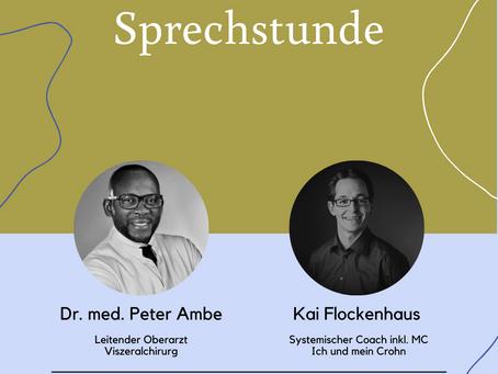 """Was ist ein Pouch? """"Die Chroinische Sprechstunde"""" mit Dr. Ambe und Kai Flockenhaus"""