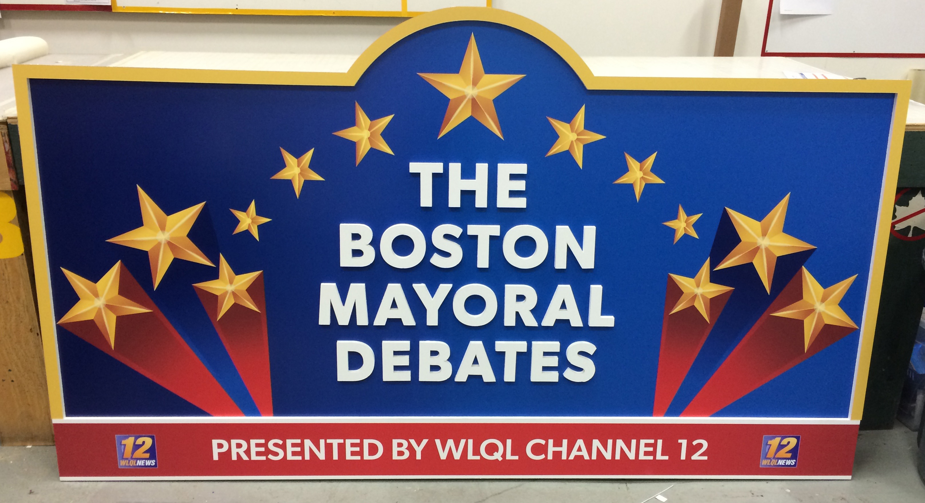 Boston Debates Sign