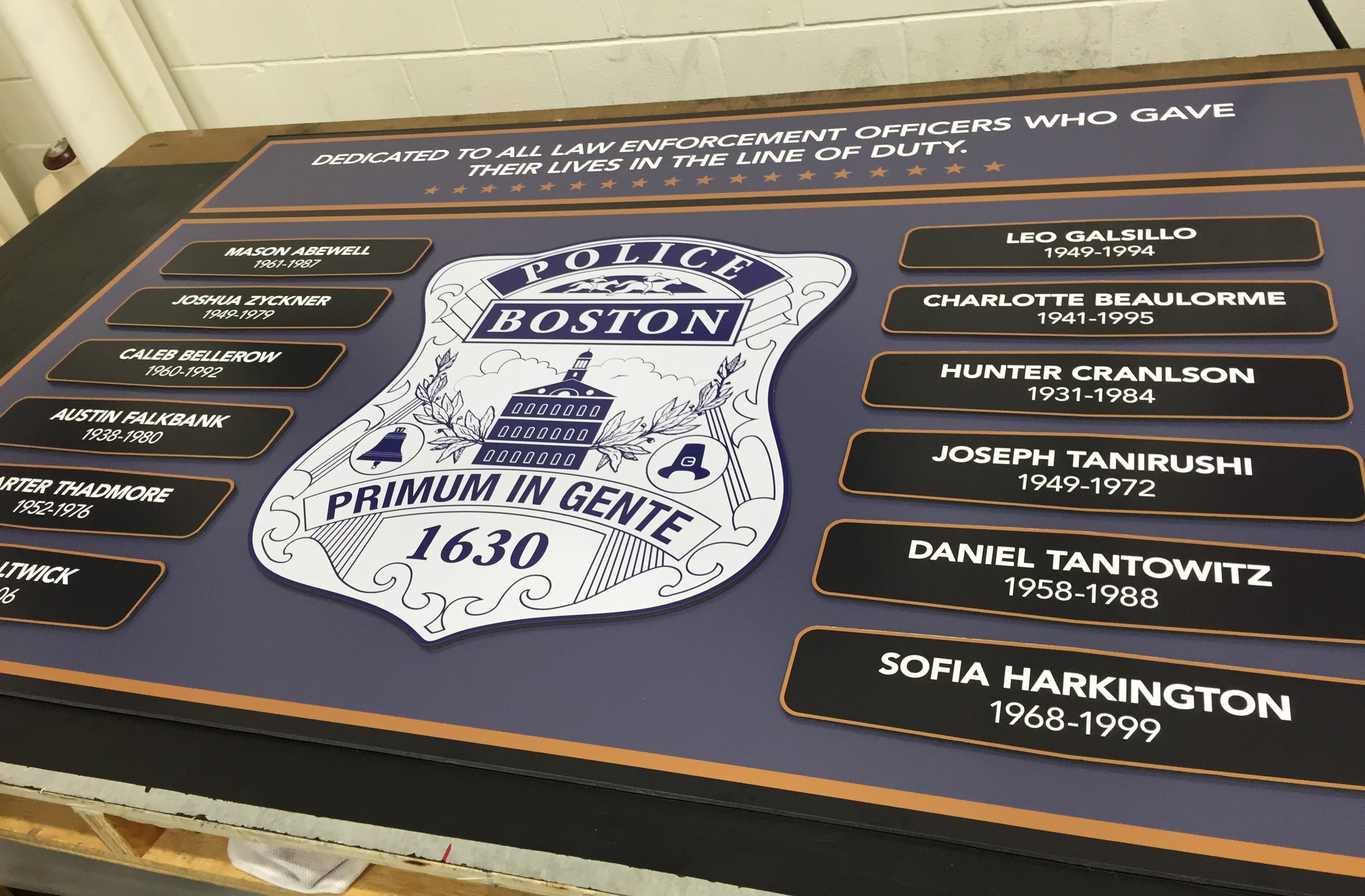 Police Signage