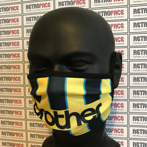RETRO - MAN CITY  FC FACE MASK THIRD '99 - WEMBLEY