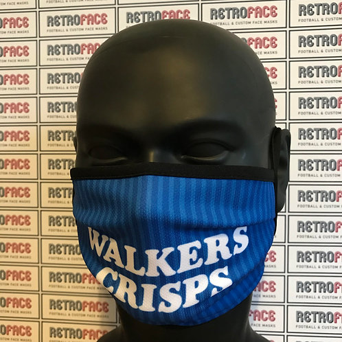 RETRO - LEICESTER CITY FC FACE MASK HOME '89