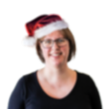 portrait of woman with christmas hat