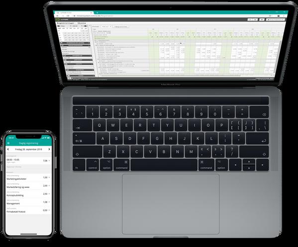 MacBook Pro og iPhoneXS