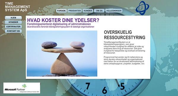 skærmbillede af en hjemmeside