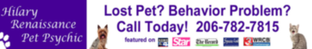 Logo for Pet Psychic Hilary Renaissance.