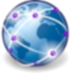 locations served globe with purple pet p