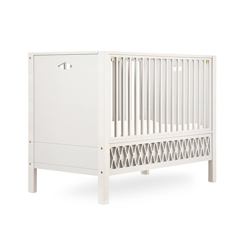 Harlequin Baby Bed, Closed Ends 70x140cm - Light Sand incl. mattress