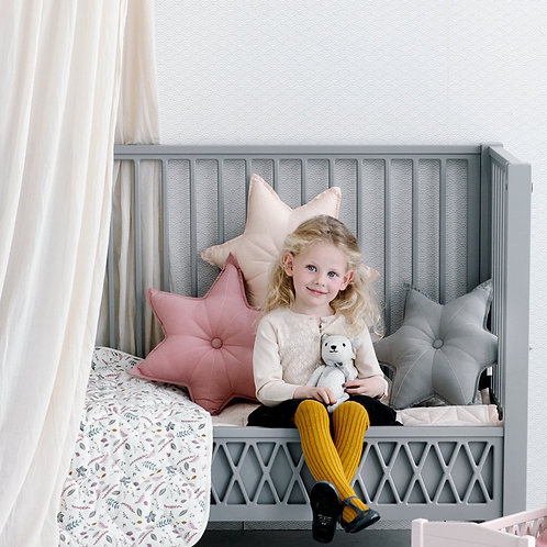 Harlequin Baby Bed 60x120cm - Grey incl. mattress
