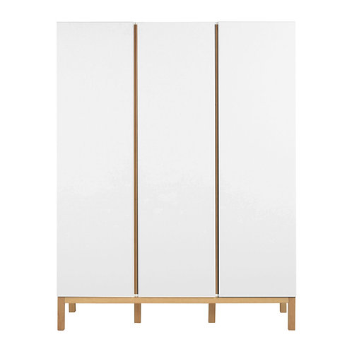 Indigo Wardrobe 3 Doors - White