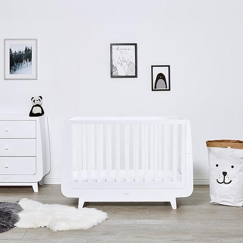2 piece Luxe Furniture Set - White - incl. mattress