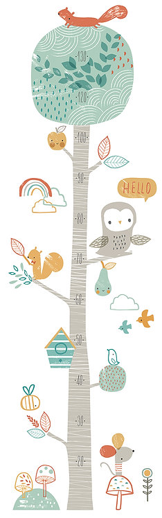 Wall Stickers Growth Chart Woodland