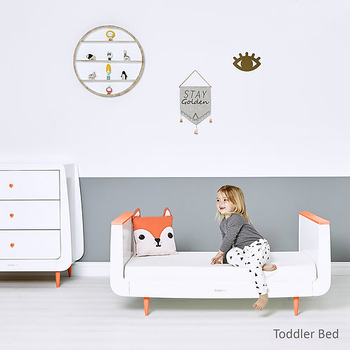 2 piece Skandi Furniture Set - Orange - incl. mattress
