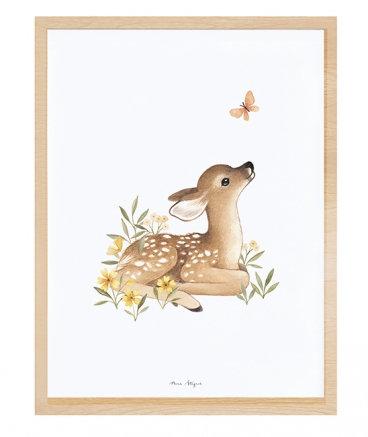 Framed Art Print- Fawn