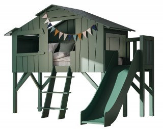 Single Bed Tree House with Slide incl. Matress