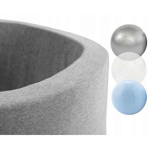 Smart Round Ball Pool Size S 90X30 Light grey 150 Balls