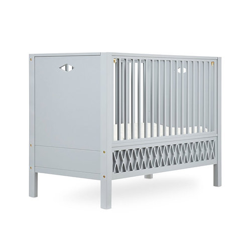Harlequin Baby Bed, Closed Ends 60x120cm - Grey incl. Mattress