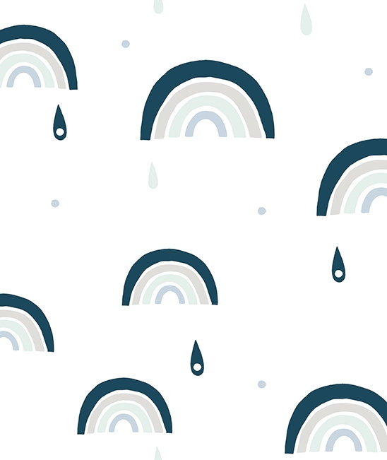 Wall Paper Blue Rainbow