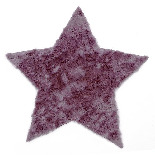 Rug Star Gray Purple 100x100