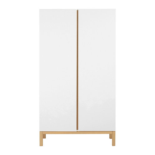 Indigo Wardrobe 2 Doors - White