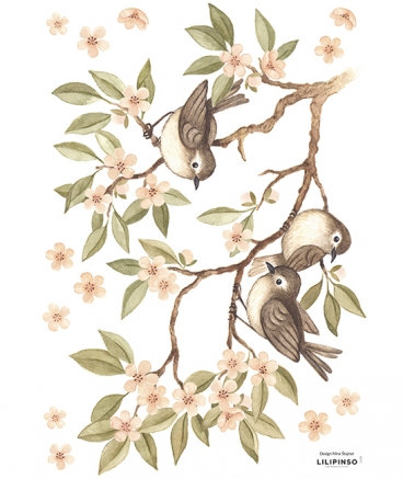 Wall Sticker Branch and Sparrows