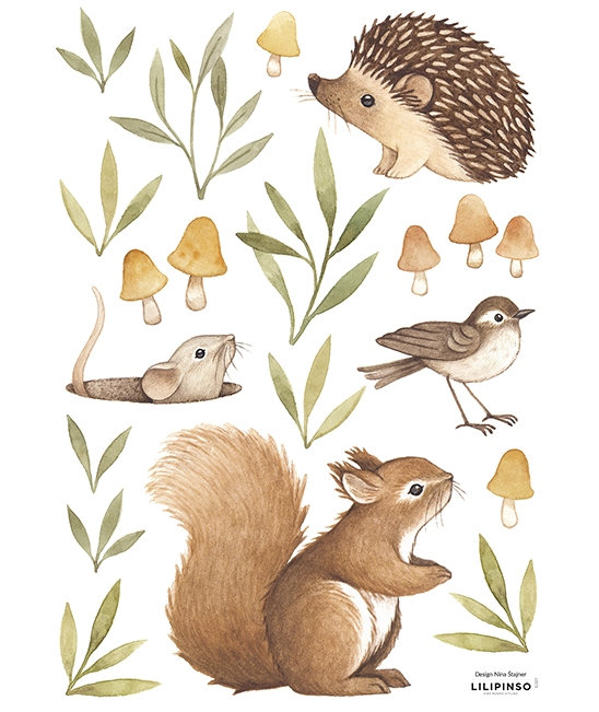 Wall Stickers Little Forest Animals