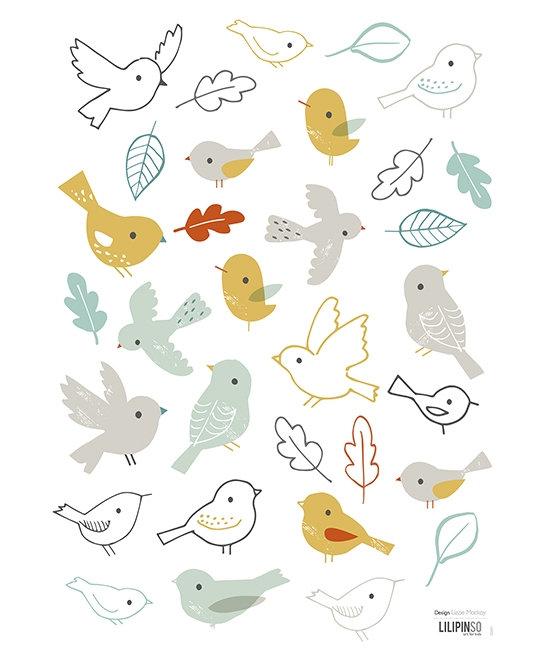 Wall Sticker Woodland Birds