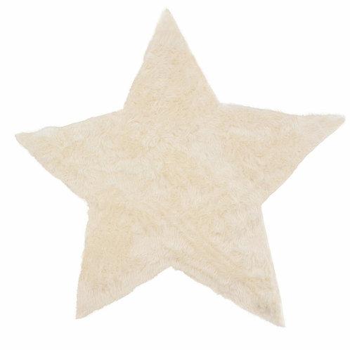 Rug Star White 140x140