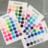 カラーサンプルカード