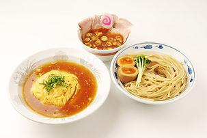 サバ濃厚鶏辛つけ麺+半天津飯