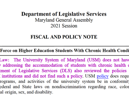 Maryland Higher Ed Bill