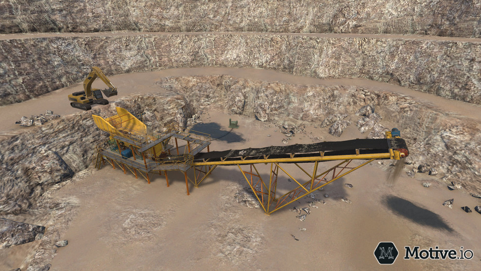 Motive.io quarry environment