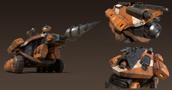 Space Mining Ground Ship