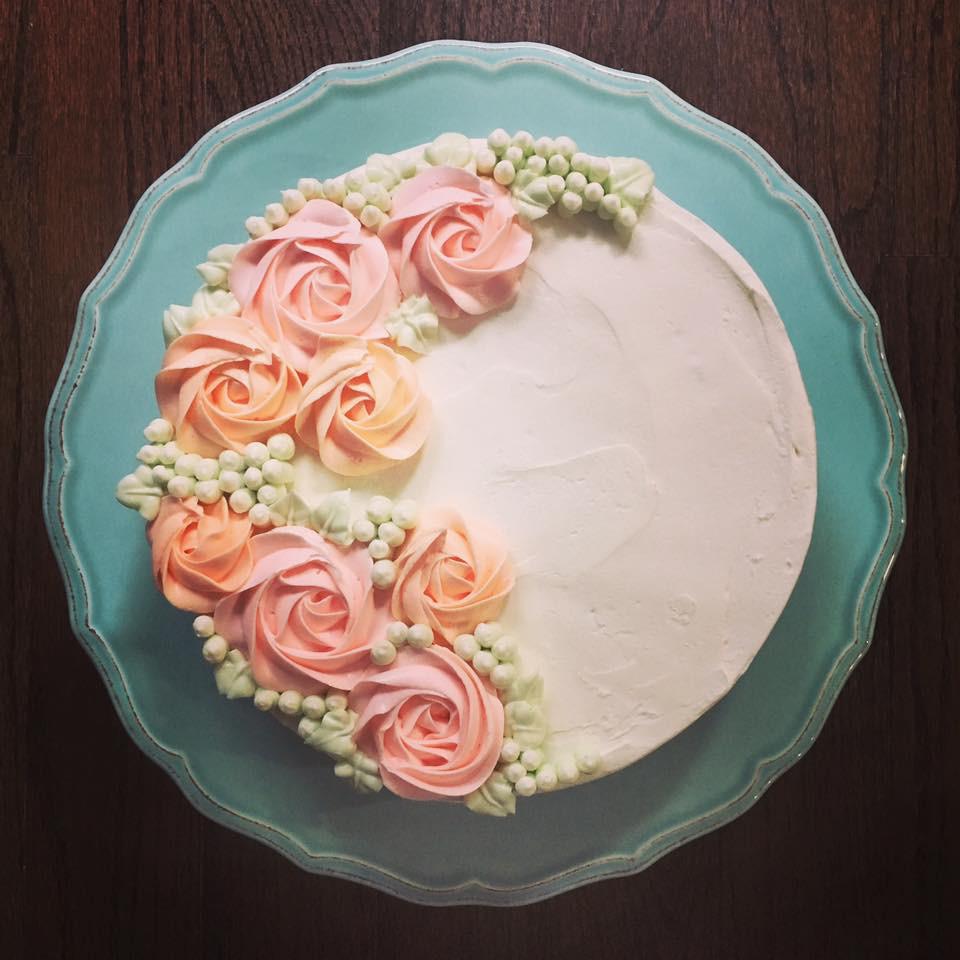 Funfetti cake with vanilla buttercream