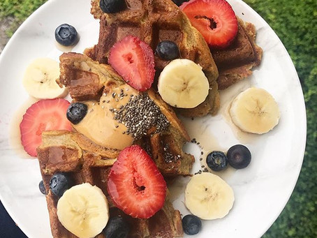 Quick Protein Waffle (V, GF Option)